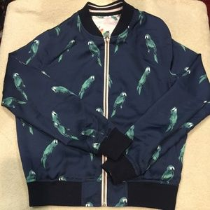 AEO Women's Reversible Jacket w/Floral and Parrot